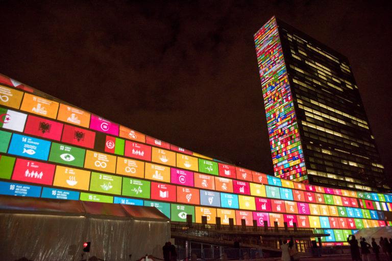 SDGs プロジェクションマッピング
